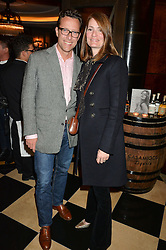 PLUM SYKES and TOBY ROWLANDS at the London launch of Casamigos Tequila hosted by Rande Gerber, George Clooney & Michael Meldman and to celebrate Cindy Crawford's new book 'Becoming' held at The Beaumont Hotel, Brown Hart Gardens, 8 Balderton Street, London on 1st October 2015.