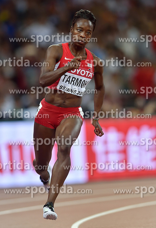 26-08-2015 CHN: IAAF World Championships Athletics day 5, Beijing<br /> Jeneba  Tarmoh USA on the 200 m<br /> Photo by Ronald Hoogendoorn / Sportida