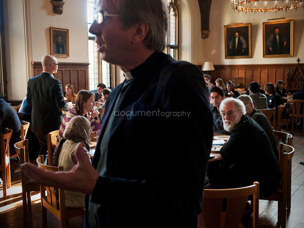 The Archbishop of Canterbury, Rowan Williams at Lambeth Palace during a Christian/Muslim forum on climate change ahead of the 2009 United Nations Climate Change Conference in Copenhagen, London..OLYMPUS DIGITAL CAMERA