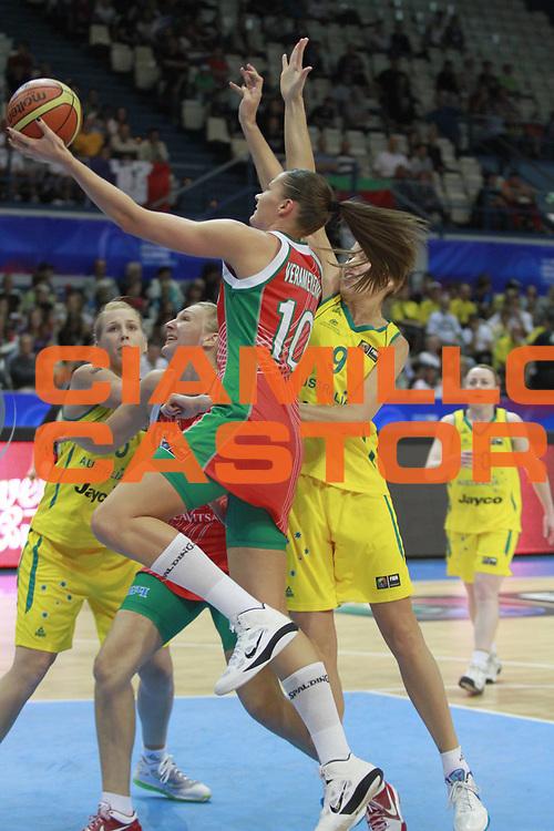 DESCRIZIONE : Ostrawa Repubblica Ceca Czech Republic Women World Championship 2010 Campionato Mondiale Preliminary Round Australia Belarus<br /> GIOCATORE : Anastasiya VERAMEYENKA<br /> SQUADRA : Belarus Bielorussia<br /> EVENTO : Ostrawa Repubblica Ceca Czech Republic Women World Championship 2010 Campionato Mondiale 2010<br /> GARA : Australia Belarus Australia Bielorussia<br /> DATA : 24/09/2010<br /> CATEGORIA :<br /> SPORT : Pallacanestro <br /> AUTORE : Agenzia Ciamillo-Castoria/H.Bellenger<br /> Galleria : Czech Republic Women World Championship 2010<br /> Fotonotizia : Ostrawa Repubblica Ceca Czech Republic Women World Championship 2010 Campionato Mondiale Preliminary Round Australia Belarus<br /> Predefinita :