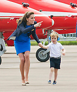 Prince George, Kate And William Visit Air Show