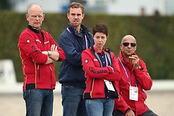 R&ouml;ser, Klaus (GER); Werndl, Benjamin (GER); Theodorescu, Monica (GER); Hilberath, Johnny (GER)<br /> European Championship Aachen 2015 - Dressage<br /> &copy; Hippo Foto - Stefan Lafrentz