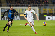 Stephan El Shaarawy of AS Roma, Davide Santon of Inter during the Italian championship Serie A football match between FC Internazionale and AS Roma on January 21, 2018 at Giuseppe Meazza stadium in Milan, Italy - Photo Morgese - Rossini / ProSportsImages / DPPI
