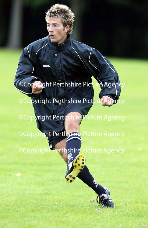 St Johnstone training...12.07.04<br />Lee Hardy<br /><br />Picture by Graeme Hart.<br />Copyright Perthshire Picture Agency<br />Tel: 01738 623350  Mobile: 07990 594431