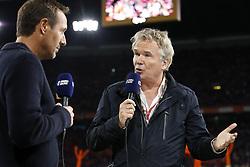 (L-R) John van t Schip, interviewer Tom Egbert of NOS during the International friendly match match between The Netherlands and Peru at the Johan Cruijff Arena on September 06, 2018 in Amsterdam, The Netherlands