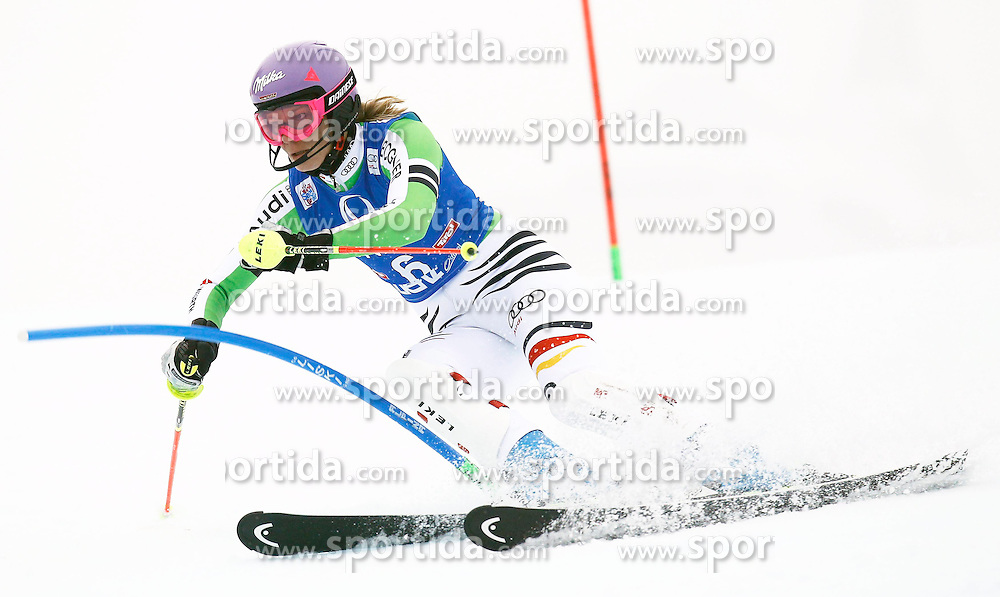 29.12.2013, Hochstein, Lienz, AUT, FIS Weltcup Ski Alpin, Damen, Slalom 2. Durchgang, im Bild Maria Hoefl-Riesch (GER) // Maria Hoefl-Riesch of (GER) during ladies Slalom 2nd run of FIS Ski Alpine Worldcup at Hochstein in Lienz, Austria on 2013/12/29. EXPA Pictures © 2013, PhotoCredit: EXPA/ Oskar Höher