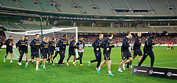 MELBOURNE, AUSTRALIA - Tuesday, July 23, 2013: Liverpool players during a training session at the Melbourne Cricket Ground ahead of their preseason friendly against Melbourne Victory. (Pic by David Rawcliffe/Propaganda)