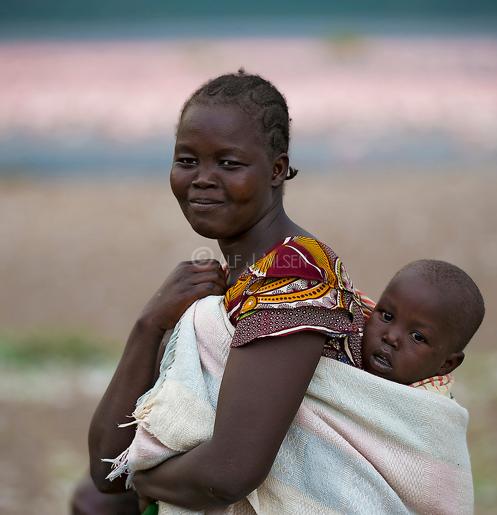 Mother and child at Lake Bogoria, kenya.