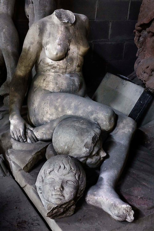 Barcelona, Spain.<br /> Many sculptures are taken off the streets and stored in an old warehouse &copy;Carmen Secanella