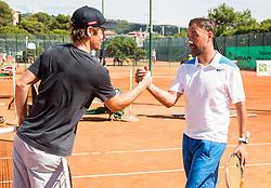 Blaz Kavcic and Alen Horvat after the Petrol VIP tournament at ATP Challenger Tilia Slovenia Open 2016, on August 6, 2016 in Portoroz/Portorose, Slovenia. Photo by Vid Ponikvar / Sportida