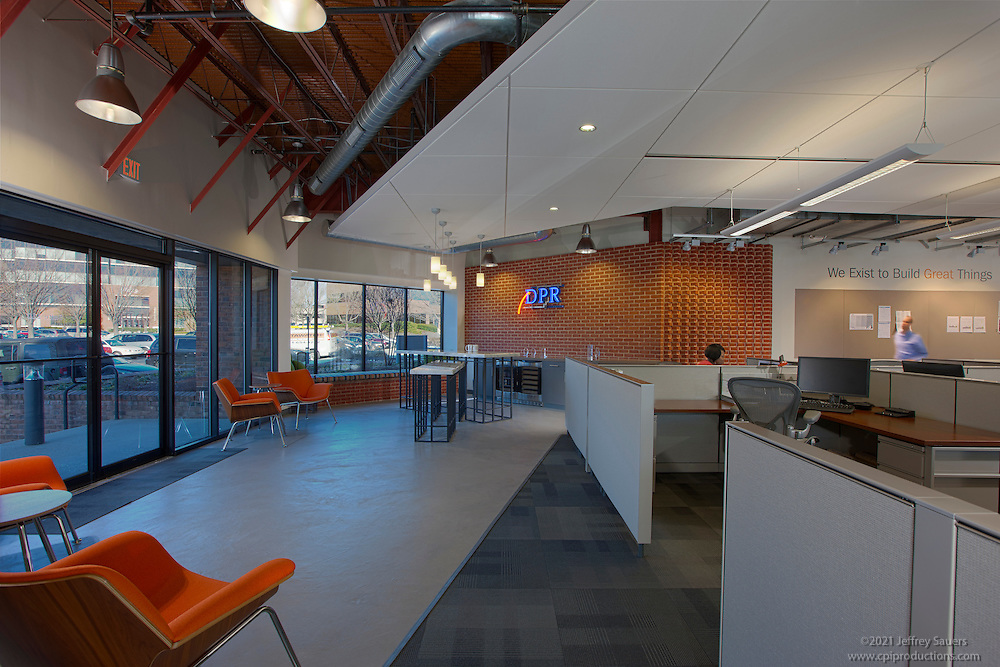 DPR Baltimore offices interior image by Jeffrey Sauers of Commercial Photographics