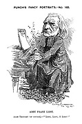 """Punch's Fancy Portraits. - No. 160. Abbe Franz Lizst. Abbe thought (of course). - """"Lizst, Lizst, O Lizst!"""""""