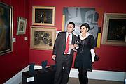 NICHOLAS EXARCHOS; SANDRA EXARCHOS, Preview of Greek Sale sponsored by Citibank. Sotheby's. New Bond st. London. 10 November 2008 *** Local Caption *** -DO NOT ARCHIVE -Copyright Photograph by Dafydd Jones. 248 Clapham Rd. London SW9 0PZ. Tel 0207 820 0771. www.dafjones.com
