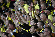 Phoenix fans during the A-League - Wellington Phoenix v Western Sydney football match at Westpac Stadium in Wellington on Sunday the 10 April 2016. Copyright Photo by Marty Melville / www.Photosport.nz