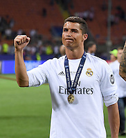 FUSSBALL  CHAMPIONS LEAGUE  FINALE  SAISON 2015/2016   Real Madrid - Atletico Madrid                   28.05.2016 Cristiano Ronaldo (Real Madrid)  jubelt