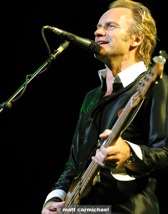 Sting performs live in concert.