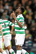 Moussa Dembele (10) celebrates his goal to make it 3-0 to Celtic during the Betfred Scottish Cup  Final match between Aberdeen and Celtic at Hampden Park, Glasgow, United Kingdom on 27 November 2016. Photo by Craig Galloway.