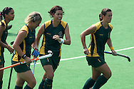 South Africa celebrate during the women's hockey match of the The Commonwealth Games between South Africa and Trinidad and Tobago held at the Stadium in New Delhi, India on the  October 2010..Photo by:  Ron Gaunt/SPORTZPICS/PHOTOSPORT
