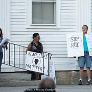 Taken at the Gilmanton NH Black Rights Matter vigil on November 20, 2020. Amy Gardner, co-organizer speaks.