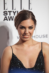 © Licensed to London News Pictures. 18/02/2014. London, UK. Amber Le Bon arrives on the red carpet for the Elle Style Awards on the Embankment in central London. Photo credit : Andrea Baldo/LNP