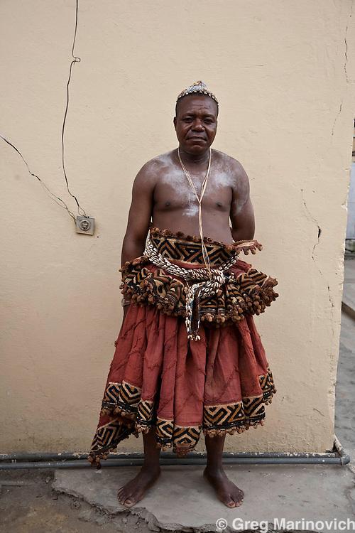 KINSHASA, DRC Jan 5, 2008:  The drssers of the Nyimi des BaKuba after a photo shoot at the kings Kinshasa residence, the Democratic Republic of Congo. Photo Greg Marinovich