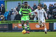 Forest Green Rovers Manny Monthe(6) on the ball during the EFL Sky Bet League 2 match between Forest Green Rovers and Port Vale at the New Lawn, Forest Green, United Kingdom on 6 January 2018. Photo by Shane Healey.