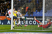 1-2, goal scored by Marcus Forss of Wimbledon  during the EFL Sky Bet League 1 match between Bolton Wanderers and AFC Wimbledon at the University of  Bolton Stadium, Bolton, England on 7 December 2019.