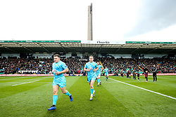 Duncan Weir of Worcester Warriors and Perry Humphreys of Worcester Warriors run out at Northampton Saints - Mandatory by-line: Robbie Stephenson/JMP - 04/05/2019 - RUGBY - Franklin's Gardens - Northampton, England - Northampton Saints v Worcester Warriors - Gallagher Premiership Rugby