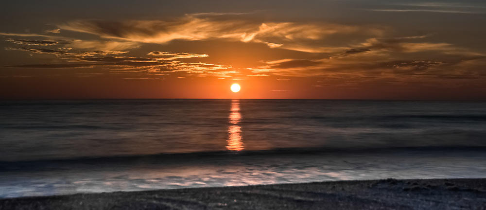 Sunset At Tamarac Beach In Carlsbad