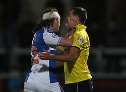 Bristol Rovers' John-Joe OToole pushes  Burton Albion's Phil Edwards and gets sent off- Photo mandatory by-line: Matt Bunn/JMP - Tel: Mobile: 07966 386802 23/11/2013 - SPORT - Football - Burton - Pirelli Stadium - Burton Albion v Bristol Rovers - Sky Bet League Two