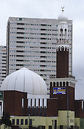 United Kingdom. Birmingham. The central Mosque of Birmingham  Birmingham  United†Kingdom      /  la grande mosquee de   Birmingham  Grande Bretagne   /  R00017/    L0007466  /  R00017  /  P0005562
