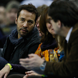January 12, 2011; New Orleans, LA, USA; Hollywood actor Jeremy Piven watches during the second half of a game between the New Orleans Hornets and the Orlando Magic at the New Orleans Arena. The Hornets defeated the Magic 92-89.  Mandatory Credit: Derick E. Hingle