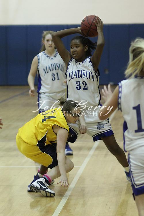 Date:  January/20/10, MCHS JV Girl's Basketball vs Fluvanna Flucos, Madison lost to Fluvanna 31-22.