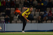 Tim Groenewald of Somerset bowling during the NatWest T20 Blast South Group match between Hampshire County Cricket Club and Somerset County Cricket Club at the Ageas Bowl, Southampton, United Kingdom on 18 August 2017. Photo by Dave Vokes.