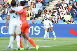 June 10, 2019: Paris, France: Argentine players celebrate 0-0 draw during match against Japan Group D match of the first phase of the Women's Soccer World Cup at Parc Des Princes. (Credit Image: © Vanessa Carvalho/ZUMA Wire)
