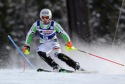 06.01.2014, Stelvio, Bormio, ITA, FIS Weltcup Ski Alpin, Bormio, Slalom, Herren, im Bild Fritz Dopfer // Fritz Dopfer  in action during mens Slalom of the Bormio FIS Ski World Cup at the Stelvio in Bormio, Italy on 2014/01/06. EXPA Pictures © 2014, PhotoCredit: EXPA/ Sammy Minkoff<br /> <br /> *****ATTENTION - OUT of GER*****