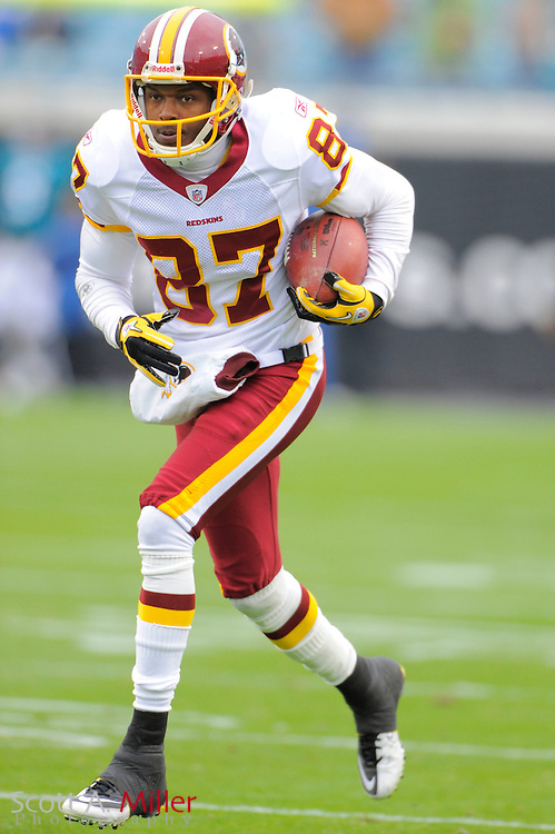 Washington Redskins wide receiver Roydell Williams (87) during the Redskins game against the Jacksonville Jaguars at EverBank Field on Dec. 26, 2010 in Jacksonville, Fl..©2010 Scott A. Miller