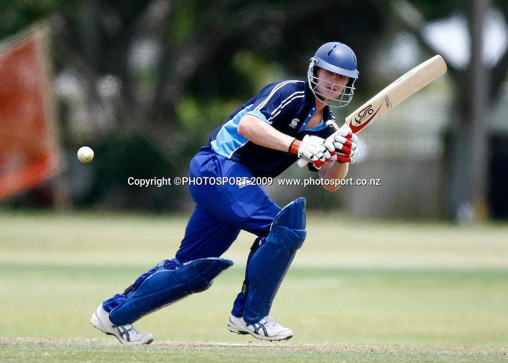 Auckland batsman Jimmy Neesham. U19 National Final, Canterbury v Auckland, Te Atatu Park, Auckland. Monday 21 December 2009. Photo: Simon Watts/PHOTOSPORT