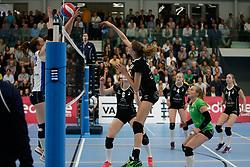 20180425 NED: Eredivisie Sliedrecht Sport - Coolen Alterno, Sliedrecht <br />(L-R) Kathy Bonsen (14) of Coolen Alterno <br />©2018-FotoHoogendoorn.nl / Pim Waslander
