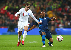 November 15, 2018 - London, United Kingdom - L-R England's Harry Winks and Julian Green of USA .during the friendly soccer match between England and USA at the Wembley Stadium in London, England, on 15 November 2018. (Credit Image: © Action Foto Sport/NurPhoto via ZUMA Press)