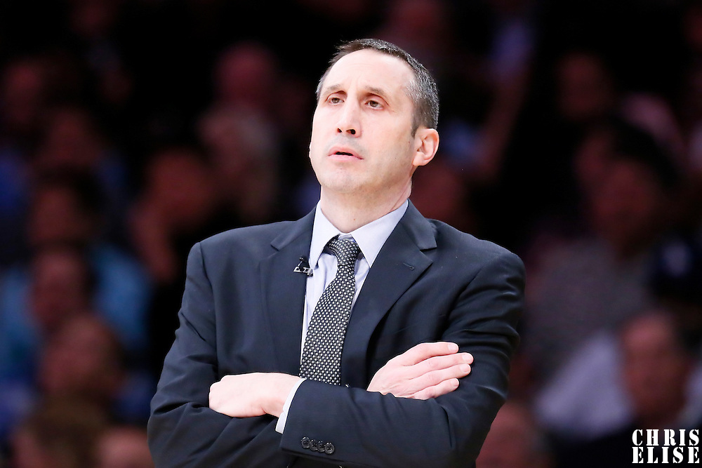 15 January 2015: Cleveland Cavaliers head coach David Blatt is seen during the Cleveland Cavaliers 109-102 victory over the Los Angeles Lakers, at the Staples Center, Los Angeles, California, USA.