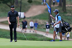 September 8, 2018 - Newtown Square, Pennsylvania, United States - Kyle Stanley (L) and his caddie Brian Reed walk off the 8th green during the third round of the 2018 BMW Championship. (Credit Image: © Debby Wong/ZUMA Wire)