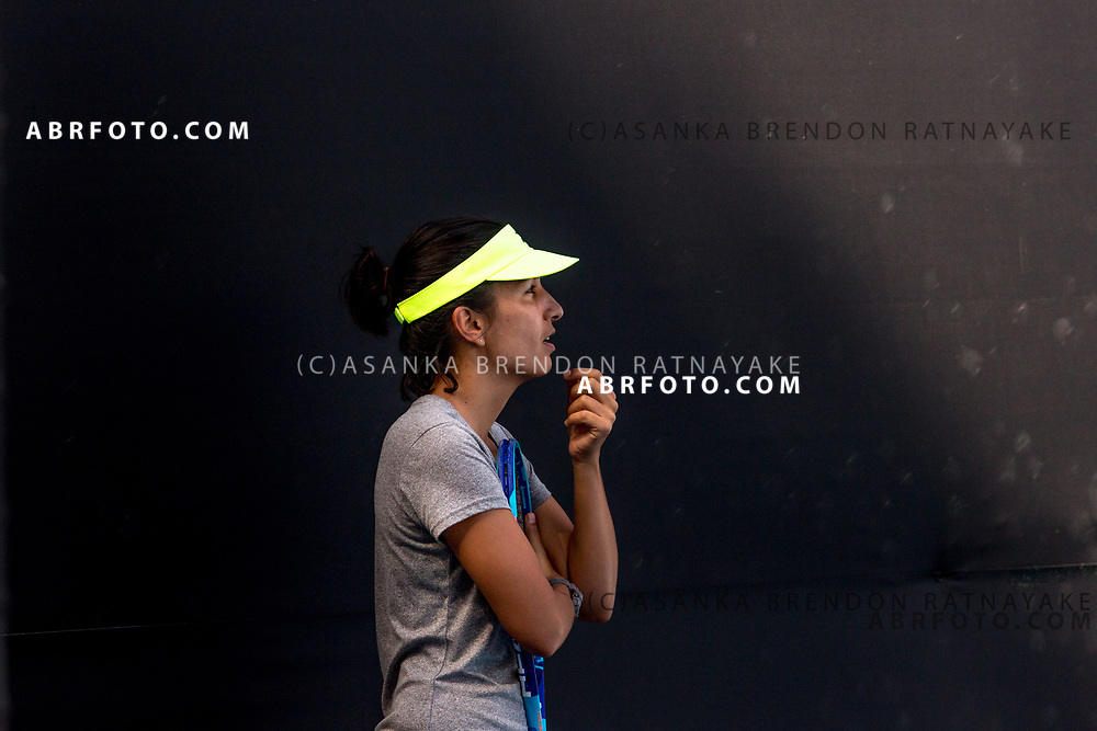 Coach, Elise Tamaëla during a training session at Melbourne Park in Melbourne, Australia on the 11th of January 2018. Asanka Brendon Ratnayake for The New York Times