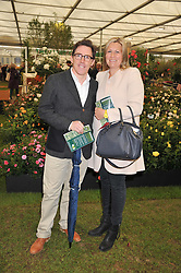 ROB BRYDON and his wife at the 2013 RHS Chelsea Flower Show held in the grounds of the Royal Hospital, Chelsea on 20th May 2013.