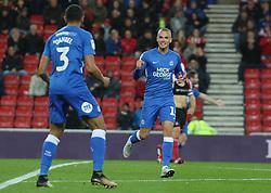 Joe Ward of Peterborough United celebrates scoring his goal - Mandatory by-line: Joe Dent/JMP - 02/10/2018 - FOOTBALL - Stadium of Light - Sunderland, England - Sunderland v Peterborough United - Sky Bet League One