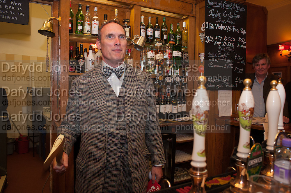 A.A.GILL, The Omnivore hosts the third Hatchet  Job of the Year Award. Sponsored by the Fish Society.  The Coach and Horses. Greek st. Soho. London. 11 February 2014.