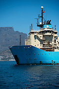 Maersk Attender at sea in Cape Town harbour