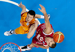 Vlado Ilievski of Macedonia vs Sergey Monya of Russia during basketball game between National basketball teams of F.Y.R. of Macedonia and Russia of 3rd place game of FIBA Europe Eurobasket Lithuania 2011, on September 18, 2011, in Arena Zalgirio, Kaunas, Lithuania. Russia defeated Macedonia 72-68 and won bronze medal. (Photo by Vid Ponikvar / Sportida)