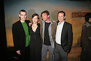 ( DIRECTOR)RUFUS NORRIS,  TANYA RONDER ( ADAPTED BOOK)  DBC PIERRE ( WROTE BOOK) AND DAVID LAN, ( THEATRE DIRECTOR) Young Vic fundraising Gala after performance of Vernon God Little. The cut. London. 10 May 2007.  -DO NOT ARCHIVE-© Copyright Photograph by Dafydd Jones. 248 Clapham Rd. London SW9 0PZ. Tel 0207 820 0771. www.dafjones.com.