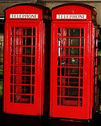 British public telephone kiosk designed circa 1970, Birmingham, England